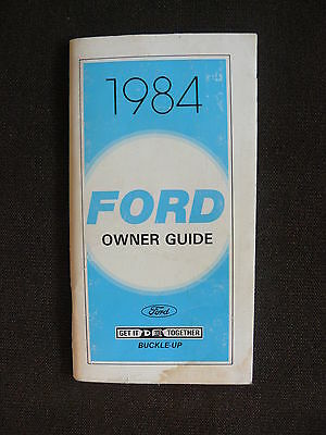Ford 1984 Sedan & Station Wagon - Owner Guide / US-Betriebsanleitung 07.1983