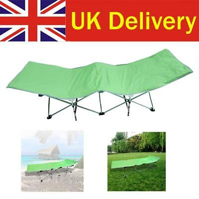 Folding 2 Layers Oxford Cloth Lunch Nap Beach Bed Outdoor Patio Campin F0B7