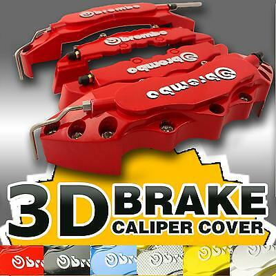 Red 4x Brembo Look Car Disc Race Brake Caliper Covers For AUDI BMW NISSAN FORD