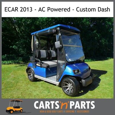 ECAR 2013 AC Power 2 Seat Golf Cart Buggy deluxe package with all the extras