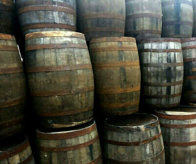 Solid Oak 180L Watertight Used Whisky Wooden Barrels Keg Old Barrel 40G