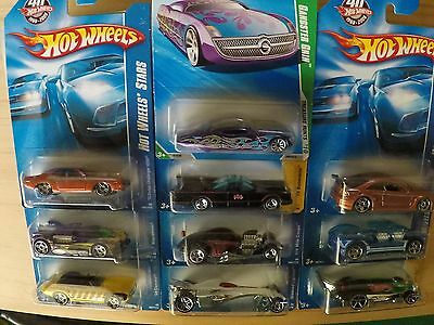 10 x Hot Wheels, RARE Treasure Hunts - Batman - Mercedes AMG - Dodge - Camaro