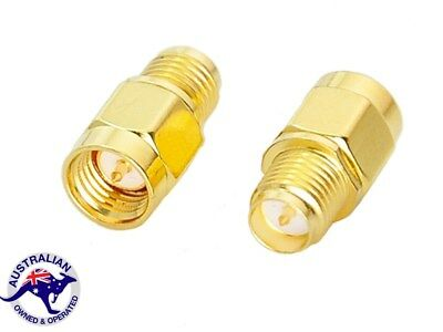 Premium RP SMA Female Jack to SMA Male Plug Straight RF Coax Adapter Connector