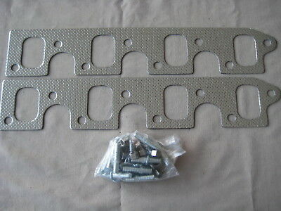 Ford Clevland Exhaust Water Cooled Maniold Gasket & Stud Kit . Suit 302 / 351 Ci
