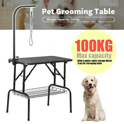 Large Foldable Dog Pet Grooming Table Portable Desk with Adjustable Alloy Legs
