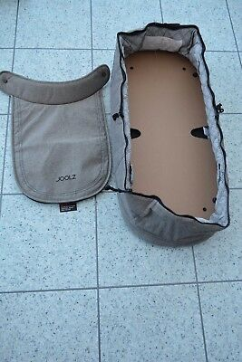 NEW Joolz Geo GRAPHITE Grey Replacement Carrycot Fabrics + Apron + Board