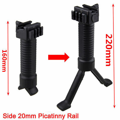 20mm RIS Picattinny Tactical Rail Rifle Foregrip Grip Bipod Extend Polymer