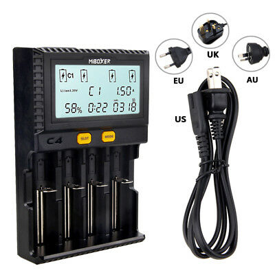 LCD Intelligent Battery Charger For Li-ion 18650 26650 AAA AA 14500 16340
