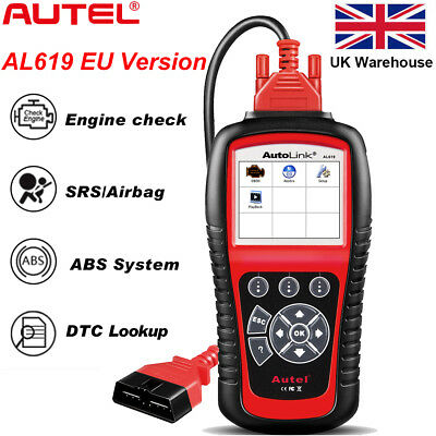 Autel Autolink AL619 OBD2 Diagnostic Tool Scanner CAN Code Reader SRS ABS Airbag