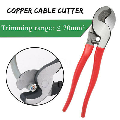 10'' Cable Cutter Plier Wire Snips Copper Crimper Cutting Strippers Up To 70mm²