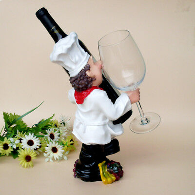 1Pcs Resin Wine Rack Personality Chef Ornaments Hot Creative Figures Wine Rack
