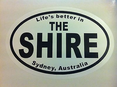 Life's better in THE SHIRE Sydney, Australia - Sticker Car Surfboard