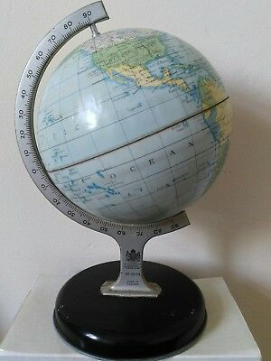 Vintage Small Metal Chad Valley Globe. Model 10174. Superb Condition.
