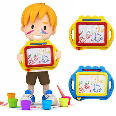 Unisex Kids Magnetic Drawing Board Children Colorful Sketch Pad Writing Craft