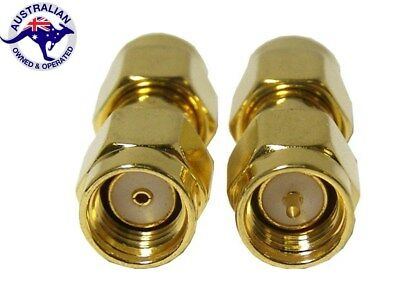 Premium SMA Male to RP SMA Male Plug Straight RF Coax Adapter Connector