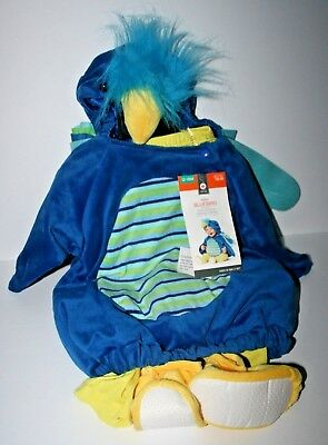 NWT Target Baby Halloween Costume BLUEBIRD,12-18M,Vest w Hood,Leggings,Booties