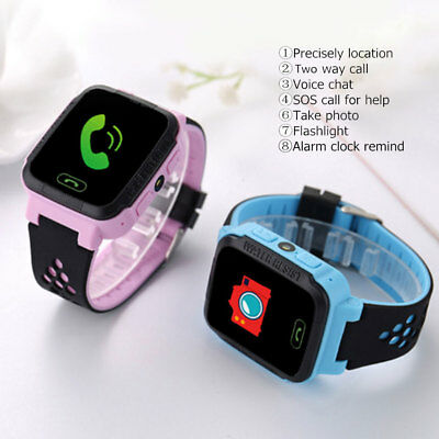 New Anti-lost Children Kids Smart Wrist Watch LBS Tracker SOS Call Android & IOS