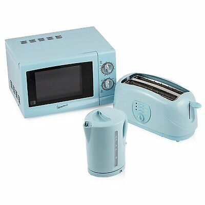 Signature Kettle/Toaster and Microwave Kitchen Set in Baby Blue - Brand New