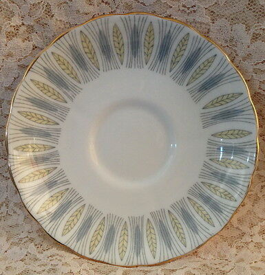 Vintage Tuscan Wheatfield Replacement Saucer Grey Yellow Wheat On White