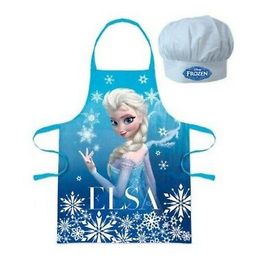 Personalised Embroidered Disney Frozen Elsa Apron Hat Set Set 3-8y Little Chef