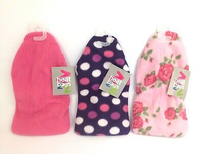 Further Reduction! Microwavable Heat Bags Fleece Cover 3 Designs (4495)