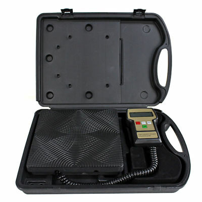 Digital Refrigerant Electronic Charging Scale Meters 220 lbs for HVAC with Case