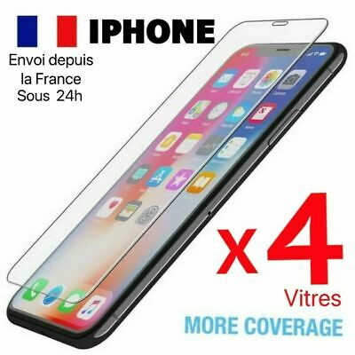 Lot Vitre protection verre trempé film écran iPhone 8 7 6S 6 Plus 5 X XR XS MAX