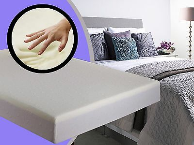 "Memory Foam Mattress Reflex Orthopaedic 4ft6 Double or 5FT King 4"" 6"" 8"" 10"" 12"""