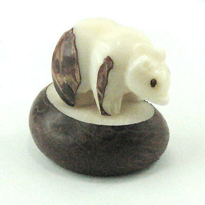Bear Tagua Carving, hand Carved From the  Nut by Ecuador Artisans