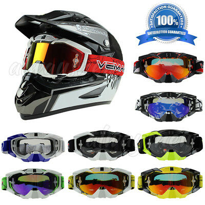 Motorcycle Goggle Motocross Racing MX ATV Dirt Bike Off Road anti-fog UV Glasses