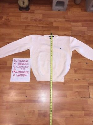 Polo Knit Sweater Small White Knit 1 Small