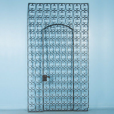 Antique 19th Century Wrought Iron Garden Gate, Left Door