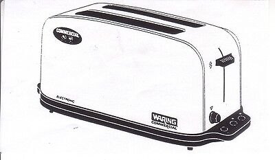 Waring Wct704 Commercial Pop Up Toaster 4 Slice New Inventory Closeout