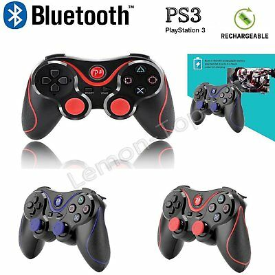 Wireless Bluetooth PS3 Game Controller USB Shock  Joystick Gamepad For Sony UK