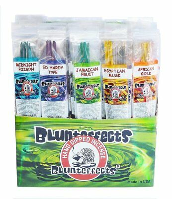 5 Pack Lot BluntEffects/Blunt Effects Incense Sticks Hand Dipped Perfume Wands