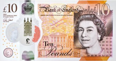 10x £10 NOTES - NEW Polymer £10 Ten Pound Note - In Stock - Same Day Dispatch!