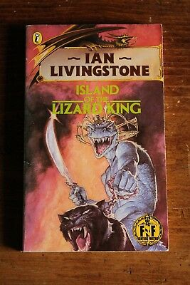 Island of the Lizard King Ian Livingstone  GOLD FOIL Fighting Fantasy BOOK