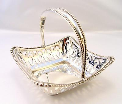 Solid Silver ORNATE Swing Handle BASKET Chester 1908