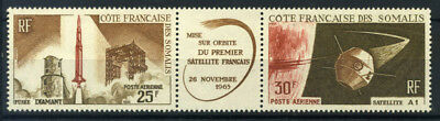 French Somali Coast 1966 Yv. 45-46A MNH 100% Airmail First Satellite