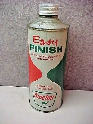 "NOS  "" Sinclair "" Easy Finish Cone Top Can  Full"