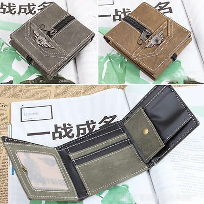 Mens or Boys Coin Cash Credit Card Holder Wallet with Zip and Stud Coin 3 Colour