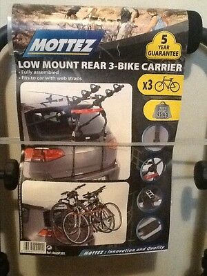 Mottez A025P3EX 3 Bike Cycle Rack Carrier