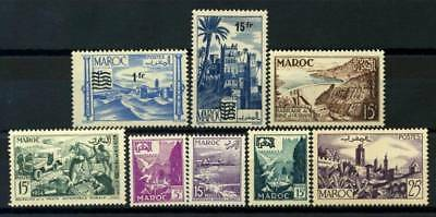 Morocco 1953 Yv. 327-334 MNH 80% Surcharged Monuments