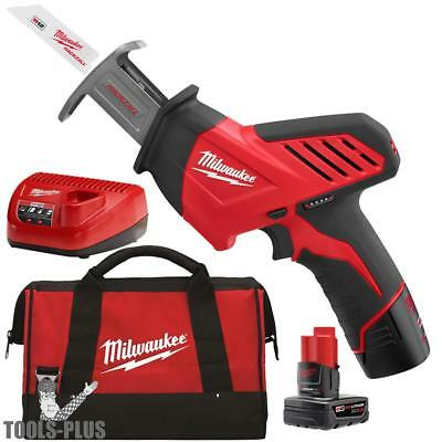 Milwaukee 2420-21 12V Hackzall M12 Reciprocating Saw 2 Batteries w/1x 6.0ah New