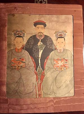 Antique Chinese Silk Figure Painting