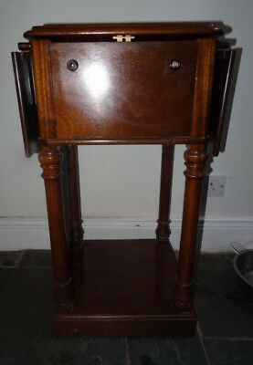 Work Table, 4 Column, Victorian / Edwardian. Mahogany. Unusual. VGC. Reduced