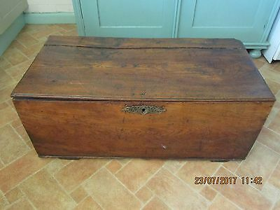 Antique chest coffer box walnut wood