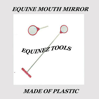 Equine Dental Mouth Mirror Curved Veterinary Dentistry First Aid Instruments