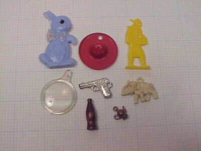 Vintage Cracker Jack Toys Charms Gumball machine Prizes Game pieces Lot 041  ...