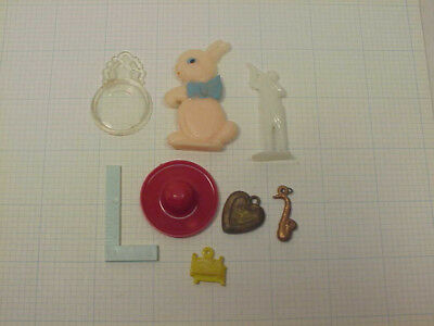 Vintage Cracker Jack Toys Charms Gumball machine Prizes Game pieces Lot 044  ...